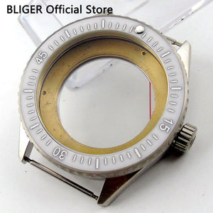 Glass 43MM Stainless Steel Watch