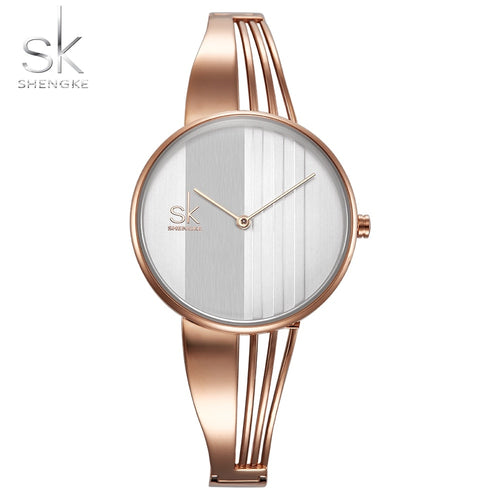 Shengke Fashion Gold-plated Women Watches