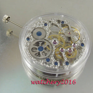 17 jewels silvery stents  watch movement