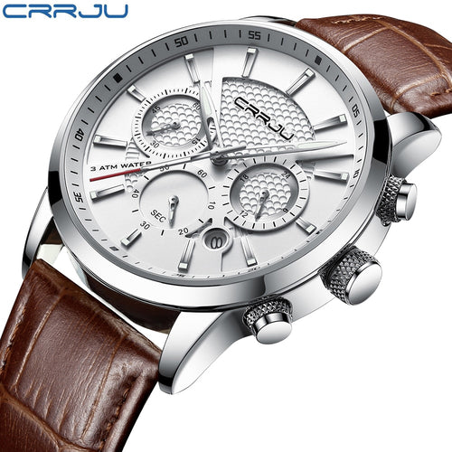 Waterproof Leather Men Watch