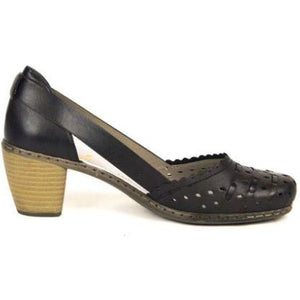 Rieker Womens Schwarz Black Sandals 40985-00 | Vilbury London