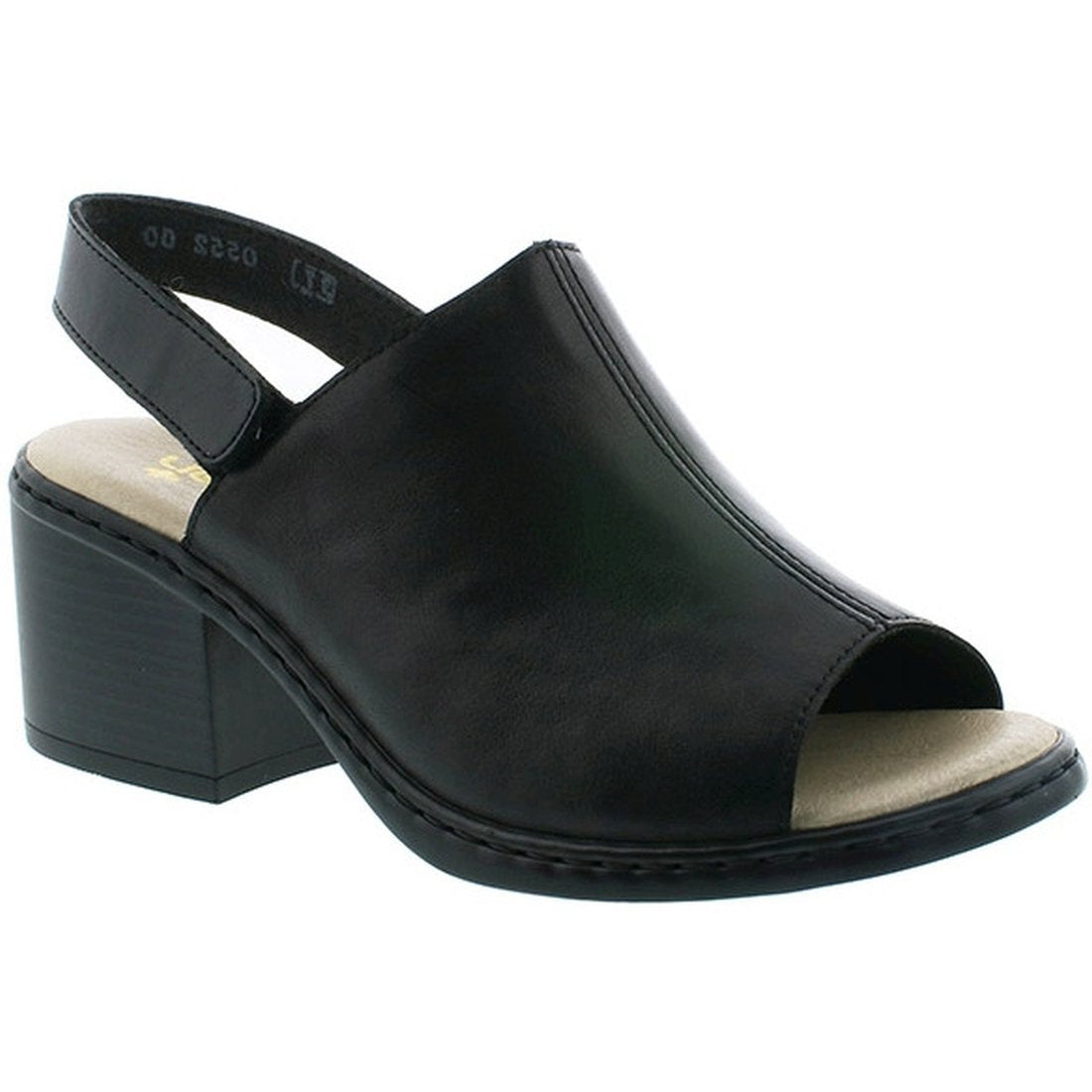 Rieker Womens Schwarz Black Sandals V0552-00 | Vilbury London