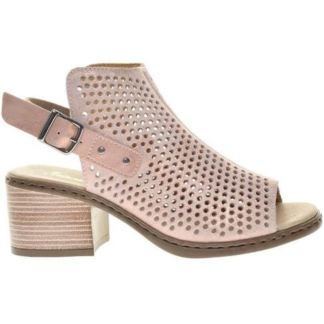 Rieker Womens Rosa Pink Sandals V0590-31 | Vilbury London