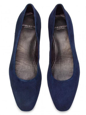 Vagabond Womens Joyce Dark Blue Flats 4708-040-64 | Vilbury London