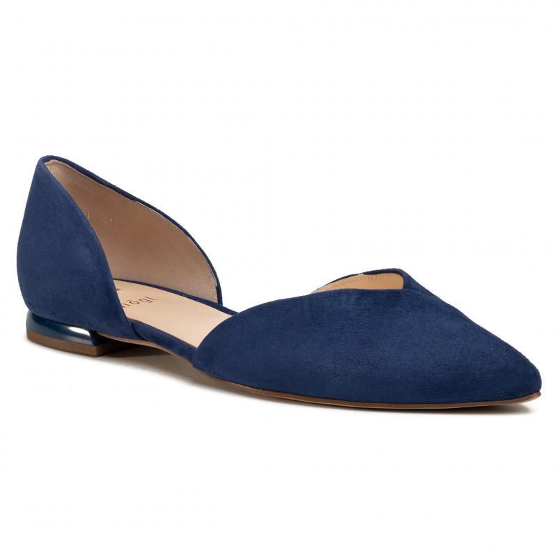 Hogl Women's All-Day Blue Ballerinas 9-100002-3100 | Vilbury London