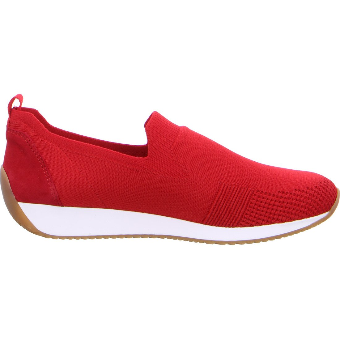 Ara Womens Red Lissabon Fusion4 Flats 12-34080-12 | Vilbury London