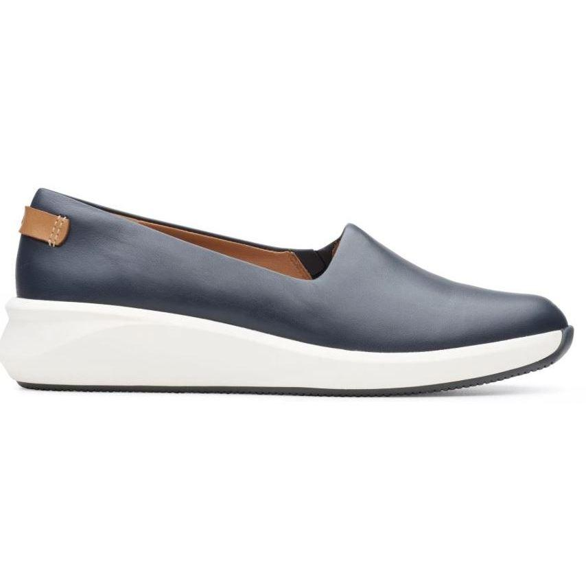 Clarks Womens Blue Un Rio Step Flats 26149715 | Vilbury London