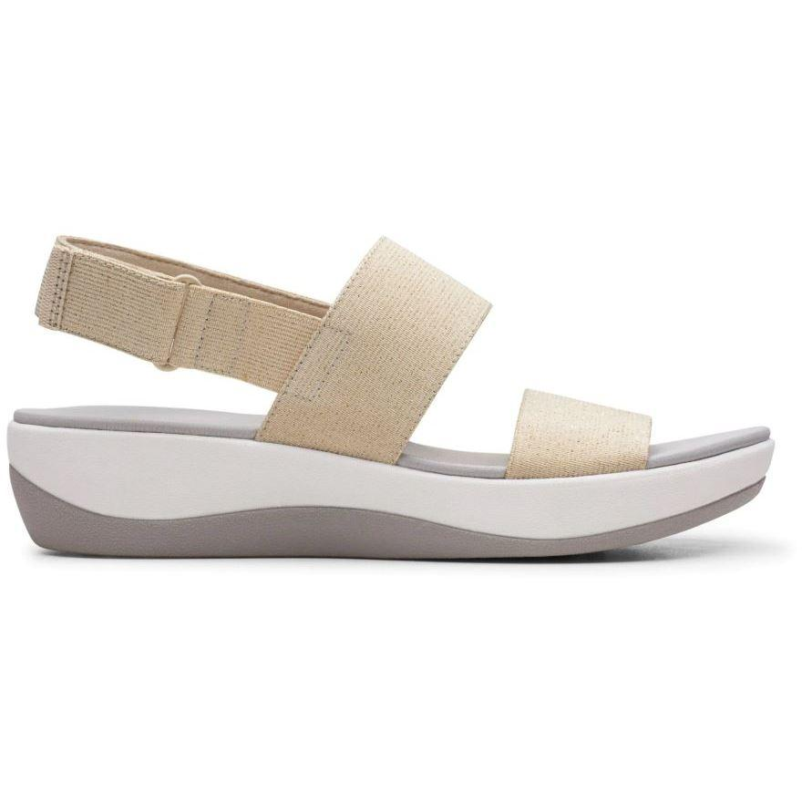 Clarks Womens Gold Arla Jacory Sandals 26150261 | Vilbury London