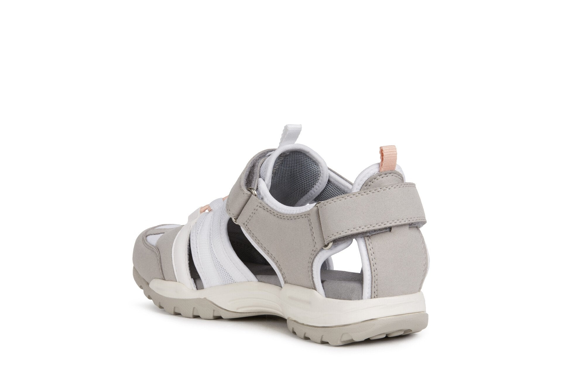 Geox Womens Grey White D Borealis Sandals D02DWA0AU14C1303 | Vilbury London