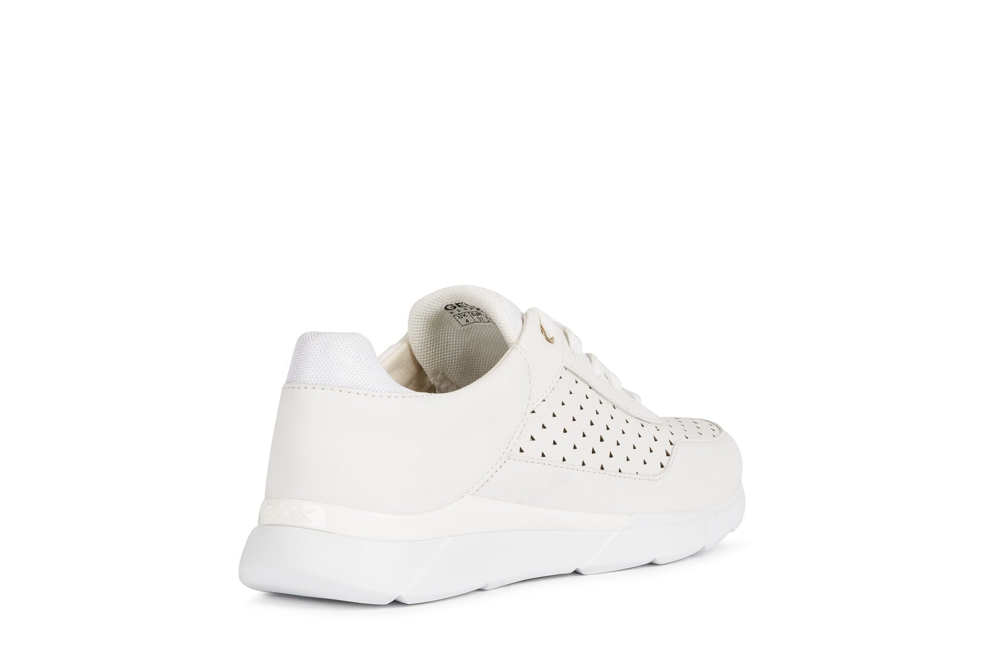 Geox Womens White D Hiver Trainers D02FHB08554C1000 | Vilbury London
