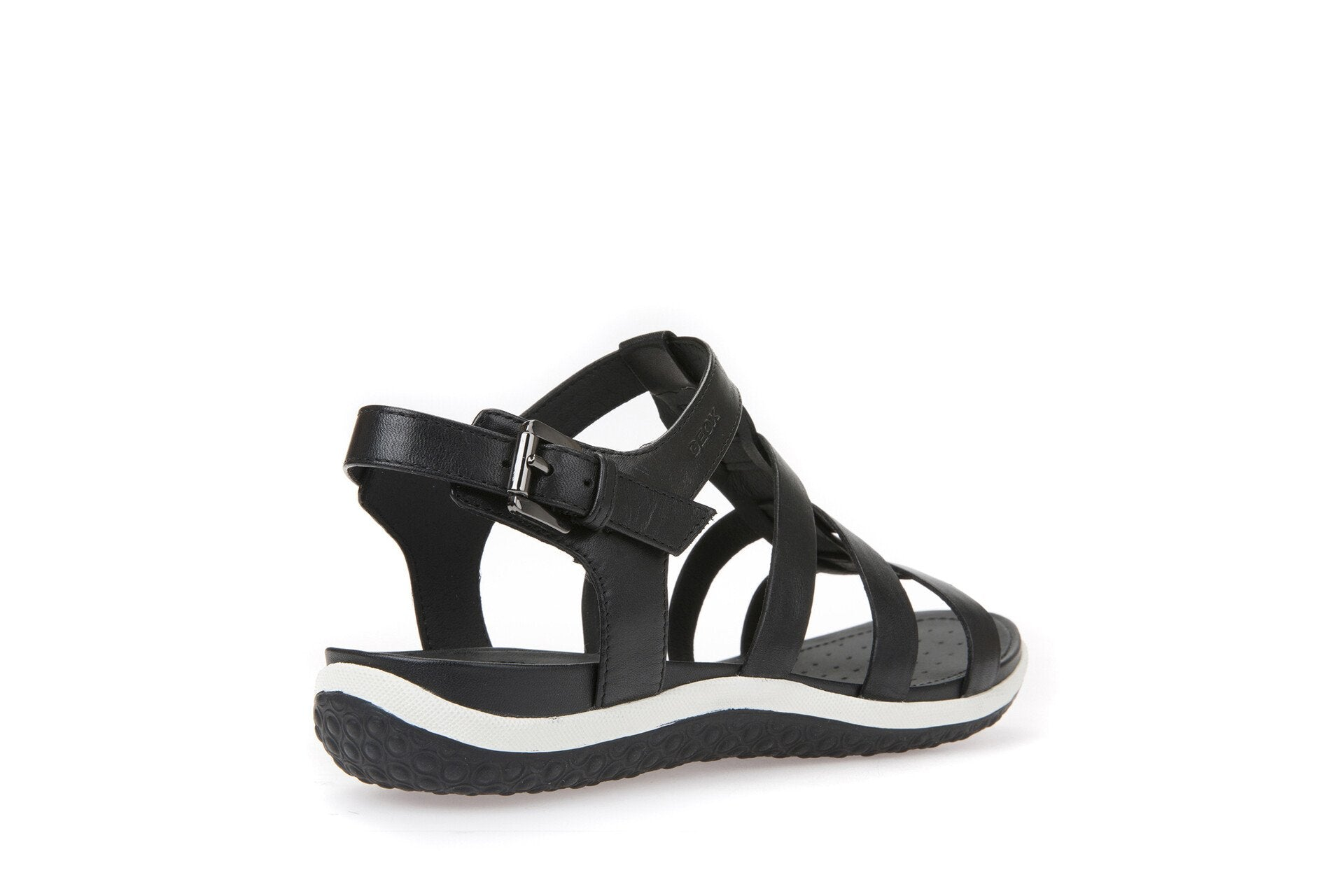 Geox Womens Black D Sandal Vega Sandals D72R6A00043C9999A | Vilbury London