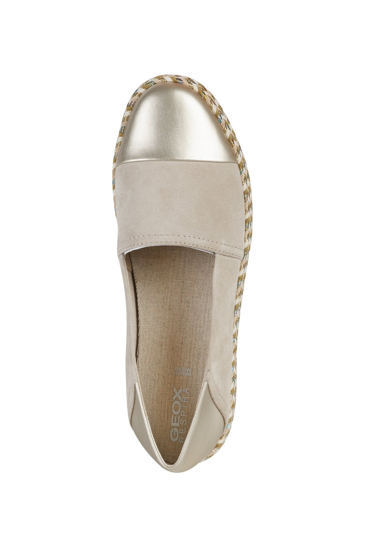 Geox Womens Beige Gold D Modesty Flats D8229A021NFC5258 | Vilbury London