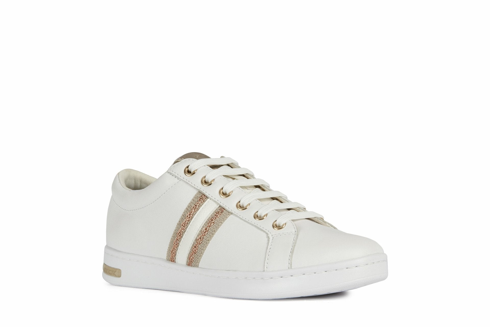 Geox Womens White Gold D Jaysen Trainers D921BA085NFC1ZH8 | Vilbury London