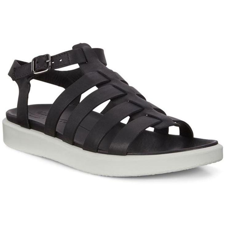 Ecco Womens Black Flowt Lx W Sandals 273873-01001 | Vilbury London