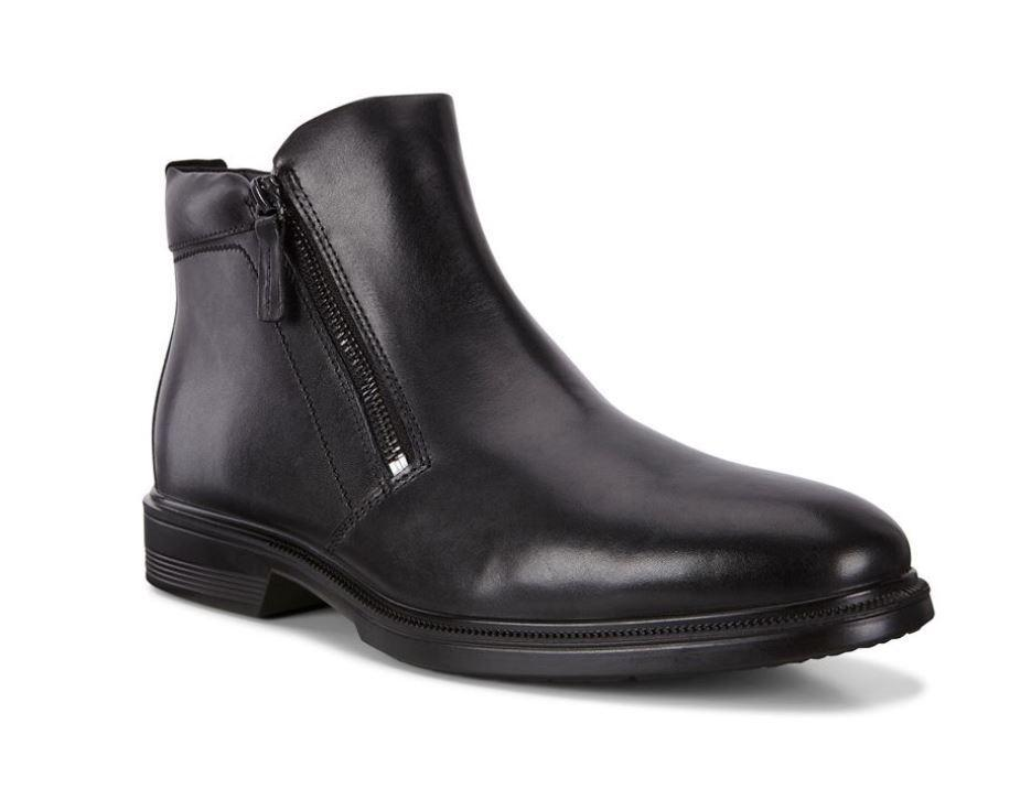 Ecco Mens Black Lisbon Boots 622204-01001 | Vilbury London