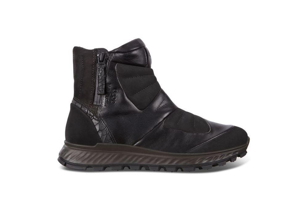 Ecco Womens Black Exostrike W Booties 832473-51052 | Vilbury London