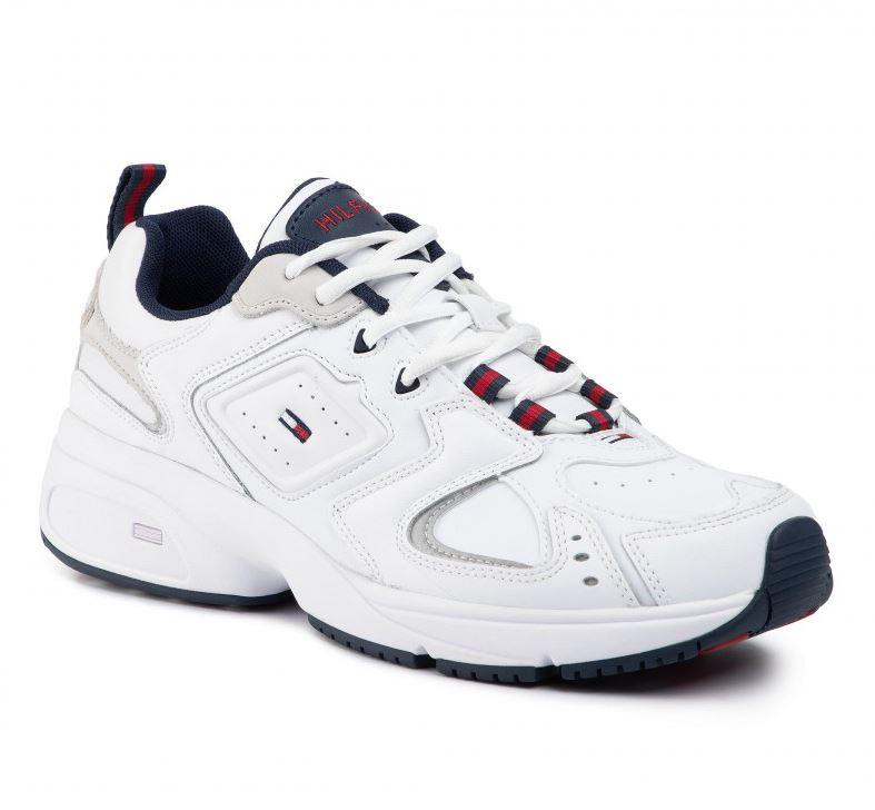Tommy Jeans Mens White Heritage Trainers EM0EM00373-YBS | Vilbury London
