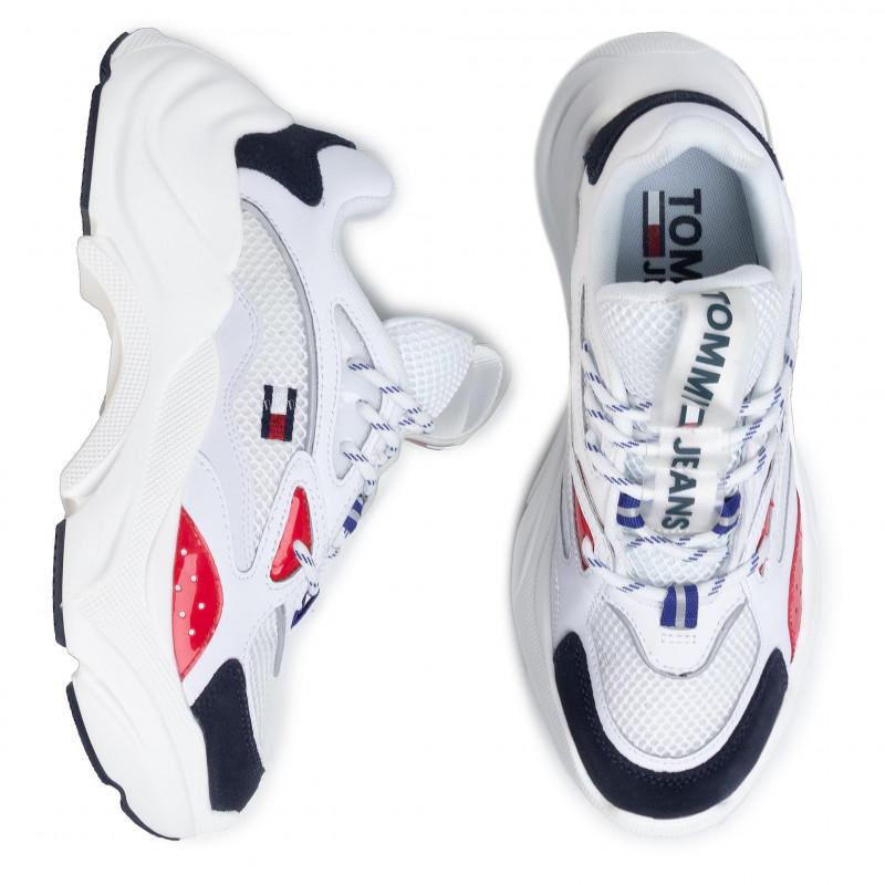 Tommy Hilfiger Womens Wmns Fashion Chunky Runner Sneakers EN0EN00791-0KP | Vilbury London