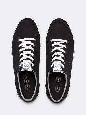 Tommy Hilfiger Mens Core Corporate Textile Vulcanized Sneakers FM0FM02676-BDS | Vilbury London