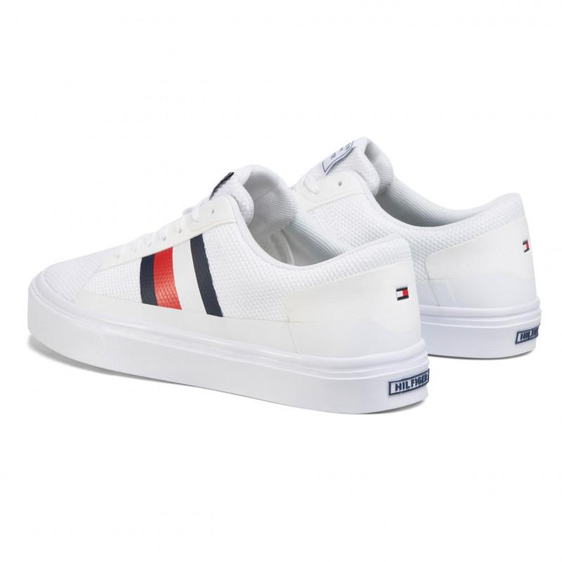 Tommy Hilfiger Mens Lightweight Stripes Knit Vulcanized Sneakers FM0FM02689-YBS | Vilbury London