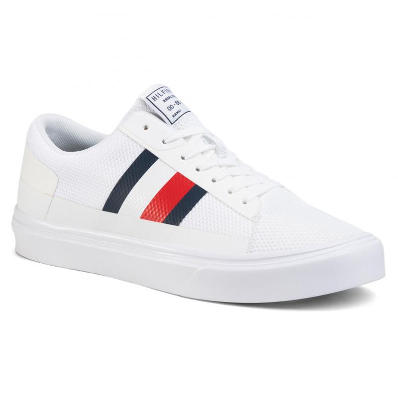 Lightweight Stripes Knit Vulcanized Sneakers