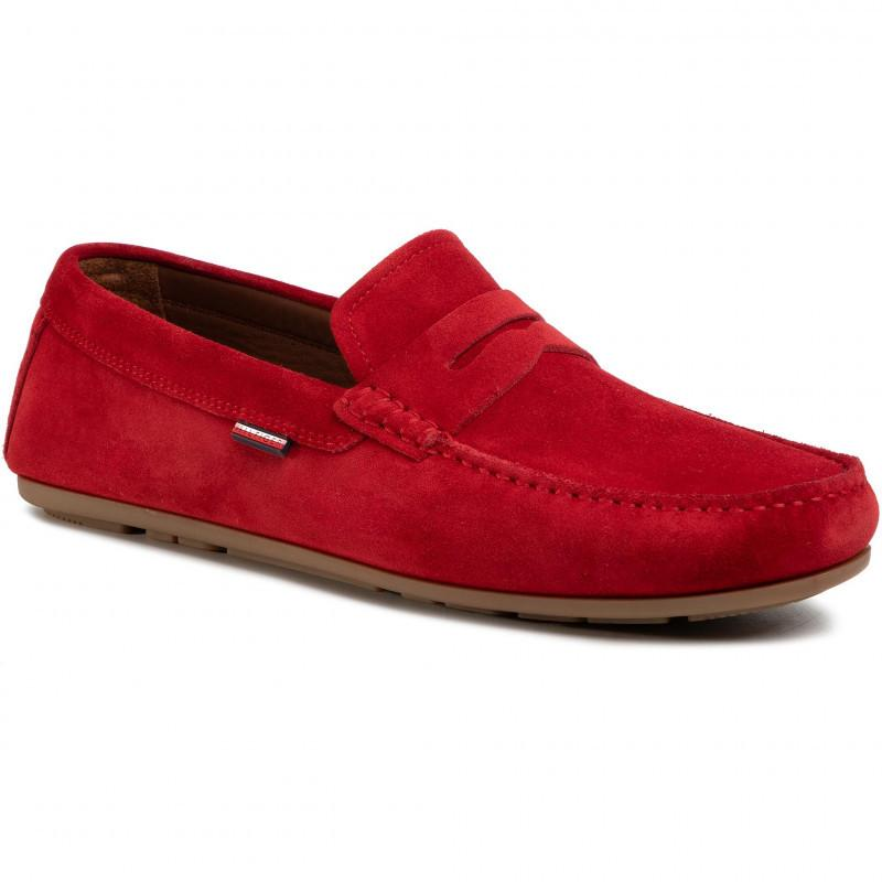 Tommy Hilfiger Mens Classic Suede Penny Loafers FM0FM02725-XLG | Vilbury London