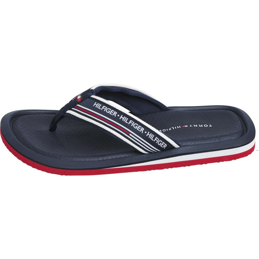 Tommy Hilfiger Male White Corporate Comfort Beach Sandal FM0FM02879 0K9 | Vilbury London