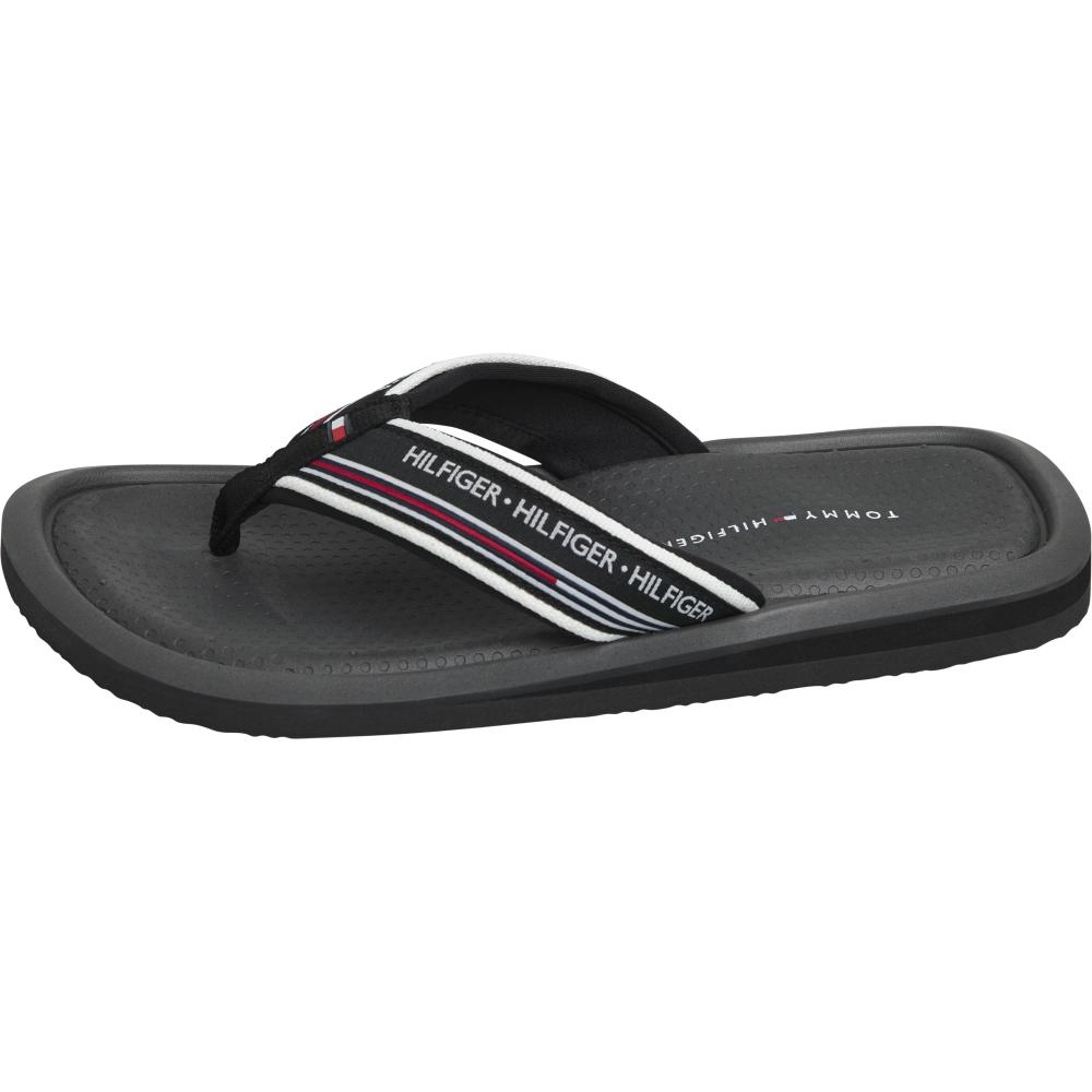 Tommy Hilfiger Male Grey Corporate Comfort Beach Sandal FM0FM02879 PTY | Vilbury London
