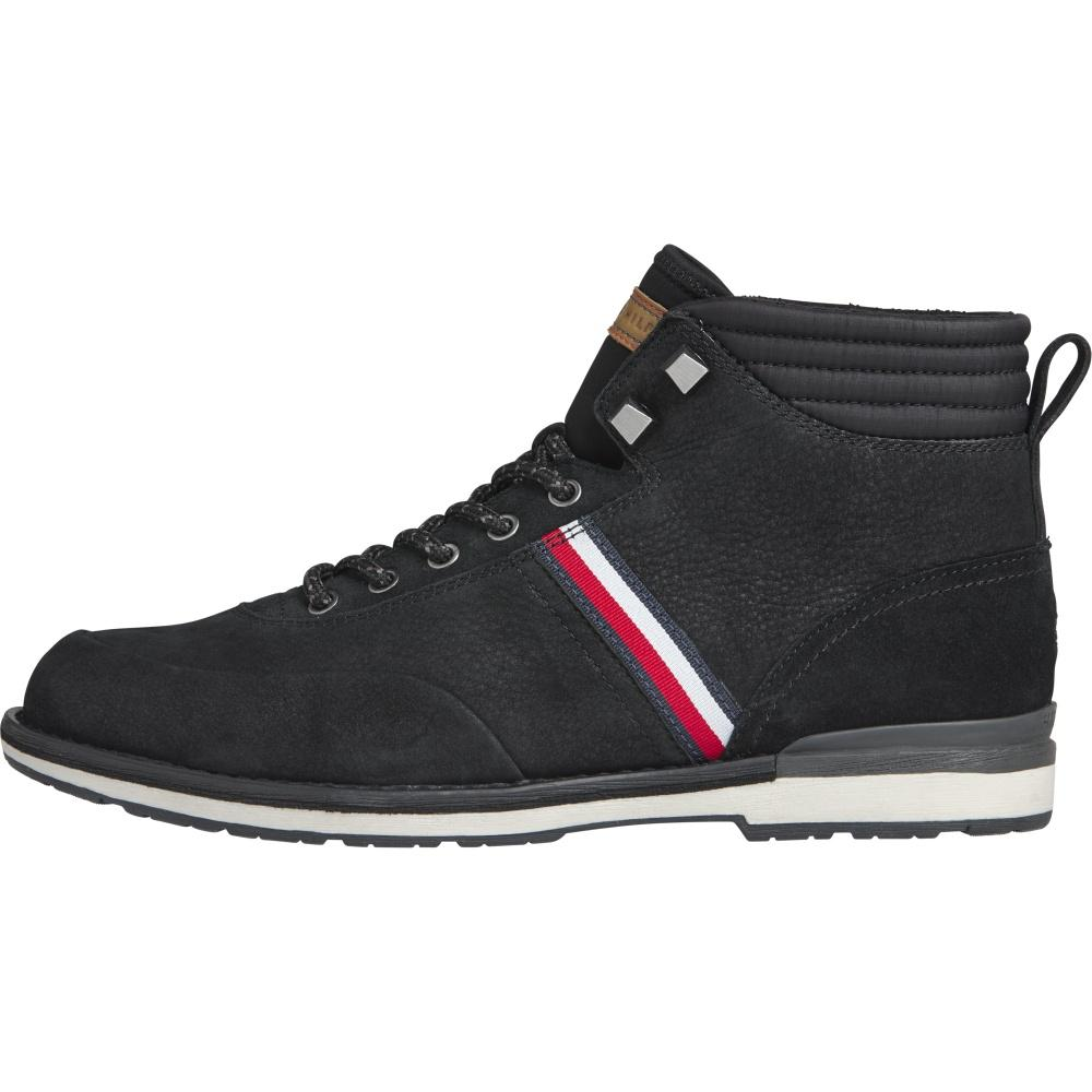 Tommy Hilfiger Male Black Outdoor Corporate Nubuck Boot FM0FM03060 BDS | Vilbury London