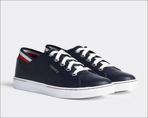 Tommy Hilfiger Womens Glitter Detail City Cupsole Sneakers FW0FW04705-DW5 | Vilbury London