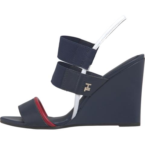 Tommy Hilfiger Womens Feminine Elastic Sandals FW0FW04778-DB9 | Vilbury London