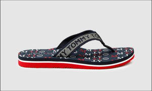 Tommy Hilfiger Womens Tommy Metallic Flat Beach Flip Flops FW0FW04807-0KP | Vilbury London