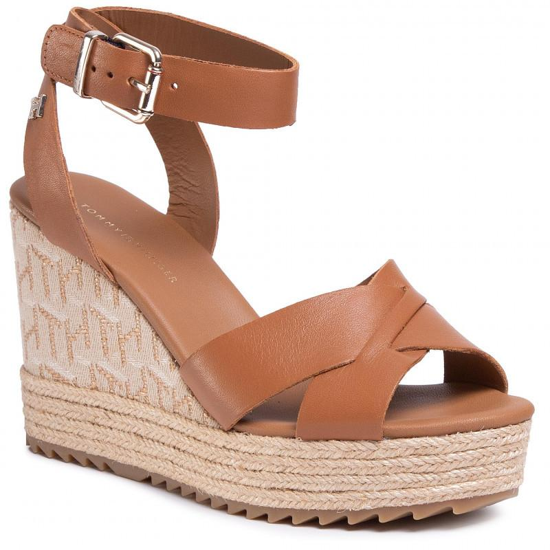 TH Raffia High Wedge Sandals