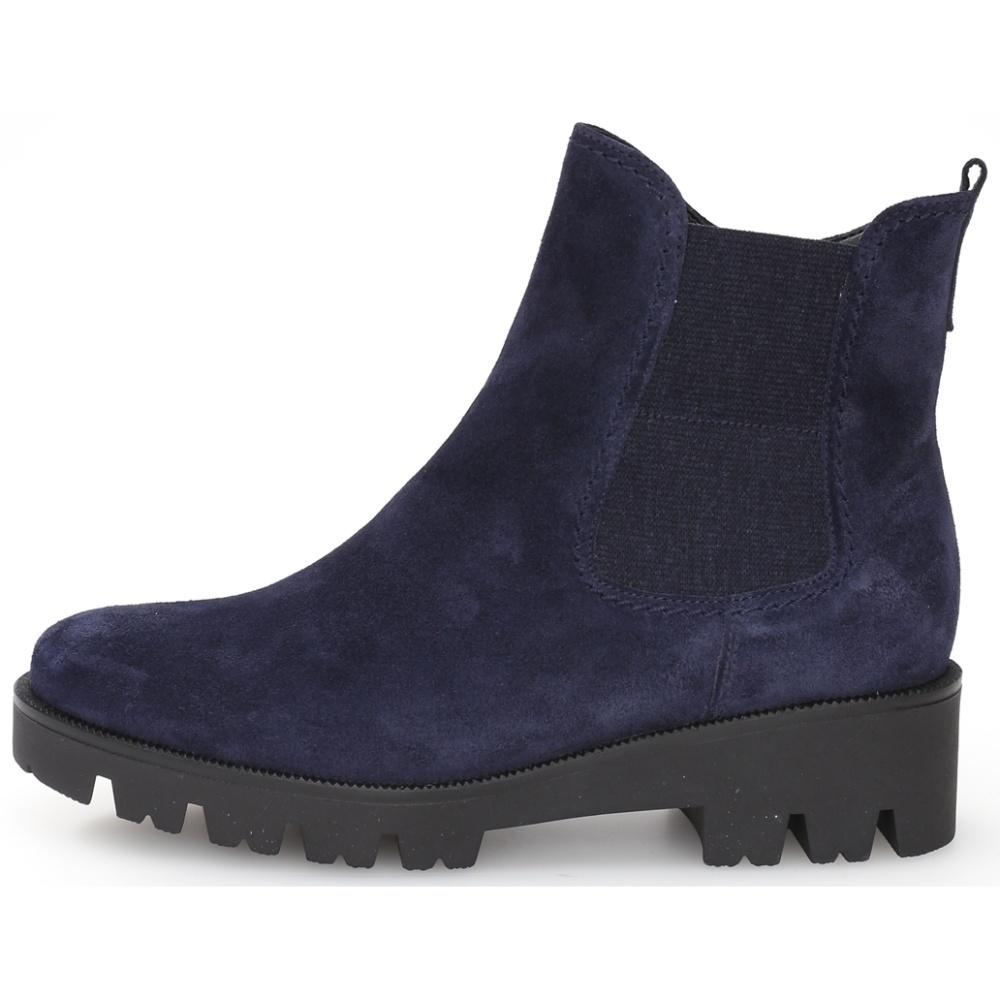 Gabor Female Blue Davos Booties Marine 52771 36 | Vilbury London