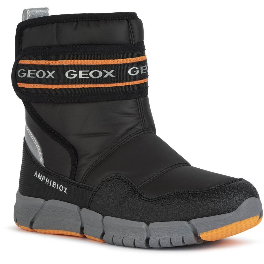 Geox Unknown Black J Flexyper Boy B Abx Black Orange J049XC-0FU50 C0038 | Vilbury London