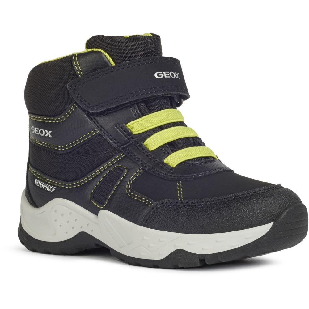 Geox Unknown Black J Sentiero Boy B Wpf Black Lime J04CEA-0FEFU C0802 | Vilbury London