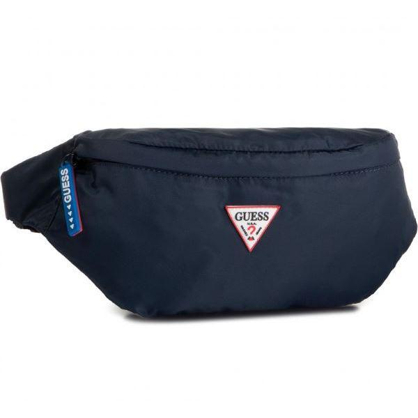 Guess Mens Blue Smart Bumbag Belt Bag HM6738 POL93 NAV | Vilbury London