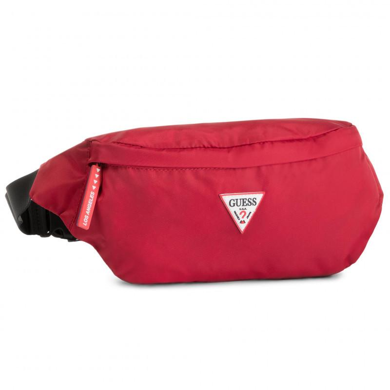 Guess Mens Red Smart Bumbag Belt Bag HM6738 POL93 RED | Vilbury London