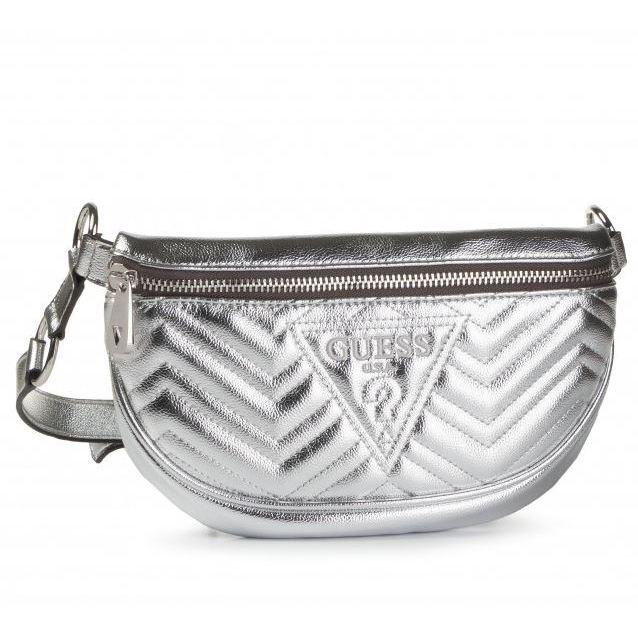 Guess Womens Silver Zana Belt Bag HWMY74 78800 SIL | Vilbury London