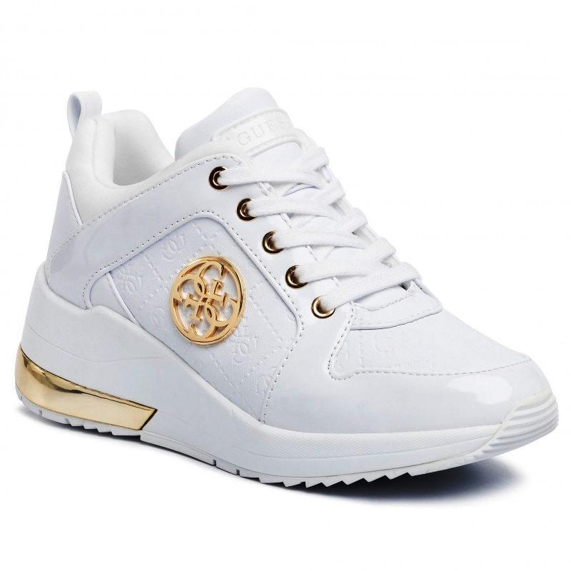 Guess Womens White Jaryds4 Trainers FL6JRY ELE12 WHITE | Vilbury London