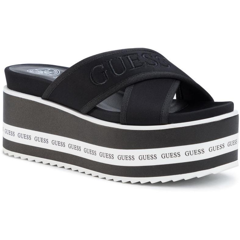 Guess Womens Black Remina Slippers FL6REM ELE19 BLACK | Vilbury London