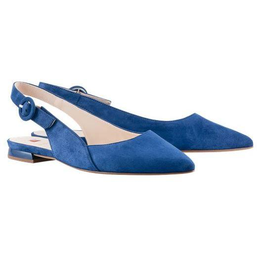 Hogl Womens Cheery Blue Low Heels 9-100102-3100 | Vilbury London