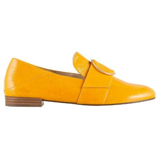 Hogl Womens Travella Yellow Flats 9-101645-9200 | Vilbury London