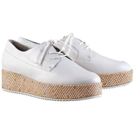 Hogl Womens Mody White Flats 9-102610-0200 | Vilbury London