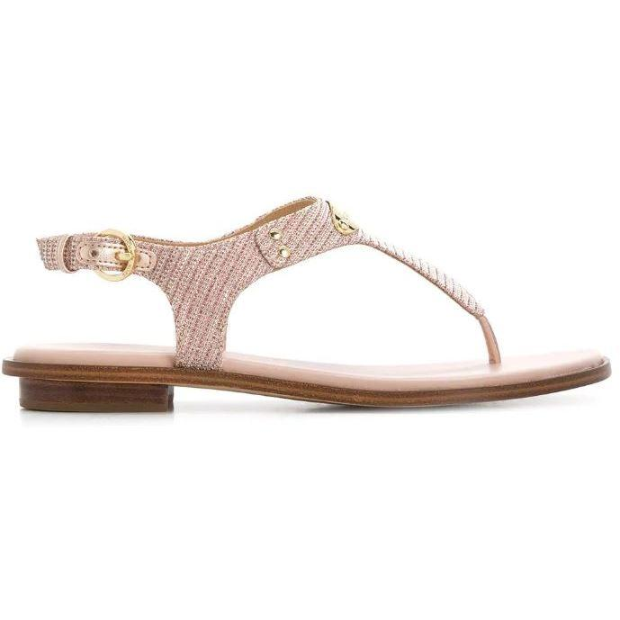 Michael Kors Womens Mk Plate Thong Sandals 40S0MKFA3D-674 | Vilbury London