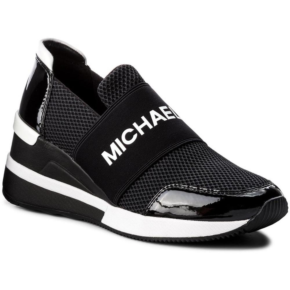 Michael Kors Female Black Felix Trainer Black 43T8FXFS3D 001 | Vilbury London
