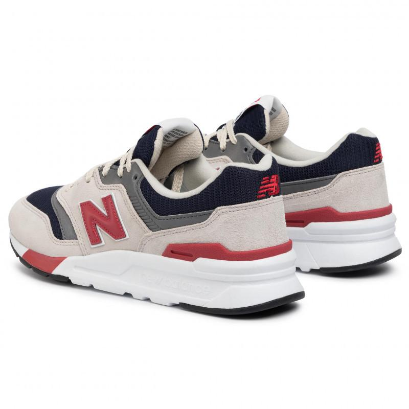 New Balance Mens 997 Grey Navy Sneakers CM997HEQ | Vilbury London