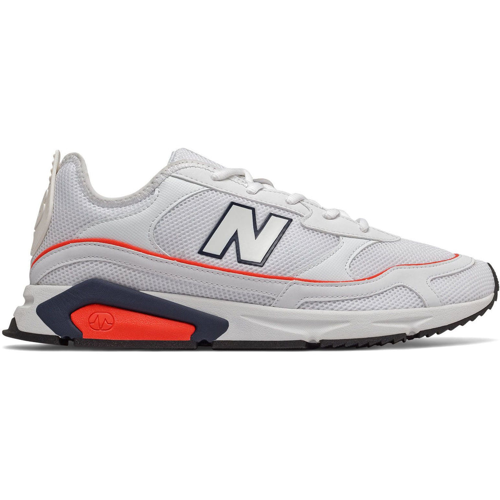 New Balance Mens X-Racer White Red Sneakers MSXRCNE | Vilbury London