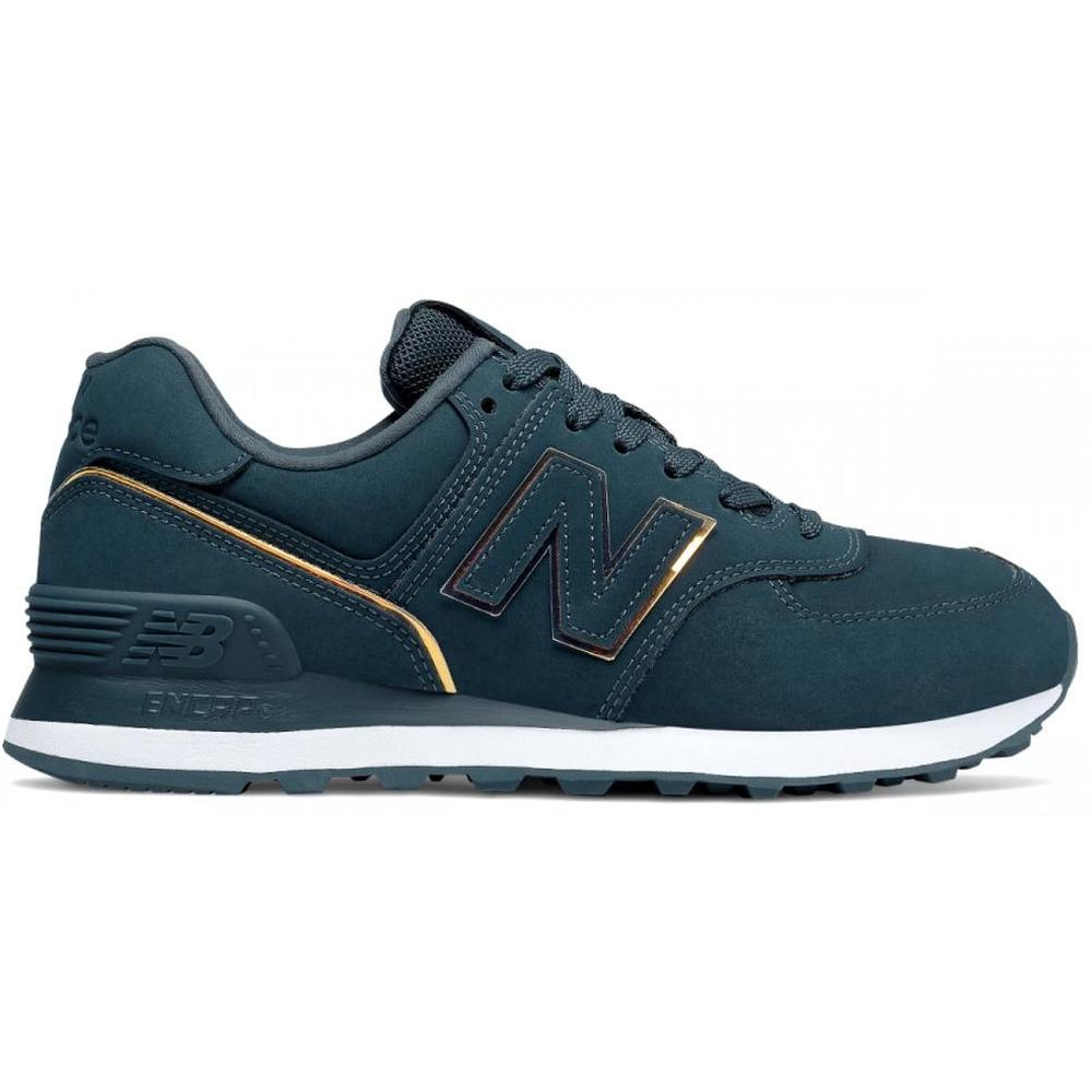 New Balance Female Blue Casual Flats Blue WL574CLA BLU | Vilbury London