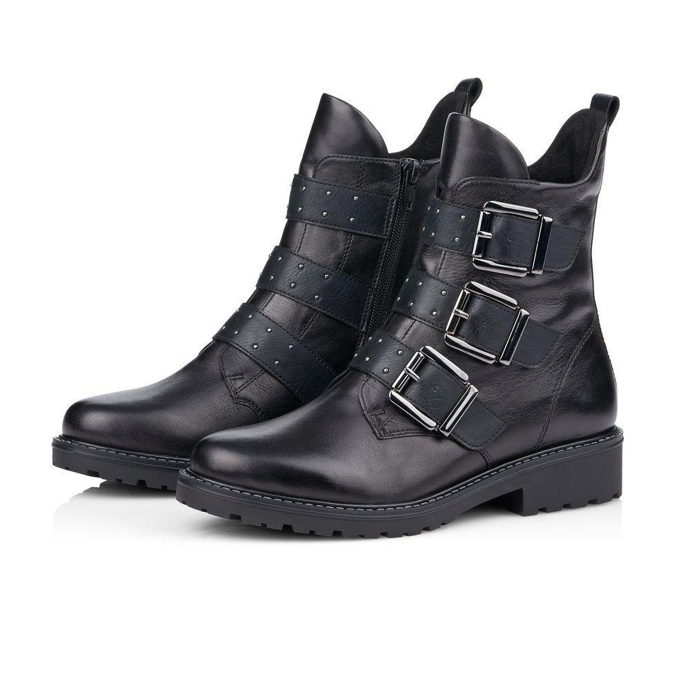 Remonte Womens Cristallino Eagle Ankle Boots R6575-01 | Vilbury London